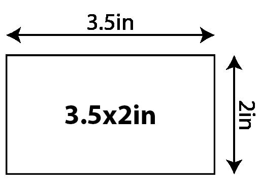 "Semi-Gloss Business Cards - 2"" x 3.5"" (U.S. Standard) 0x0in 01 Image"